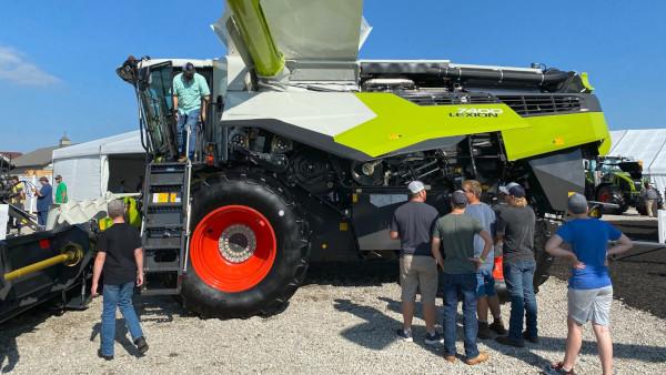 CLAAS Lexion 7400 Combine at Farm Progress Show 2021 in Decatur, IL