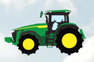 John Deere 8360R tractor clipart