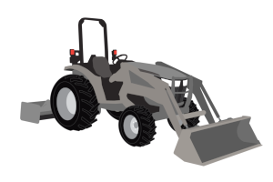 Compact Tractor Clipart