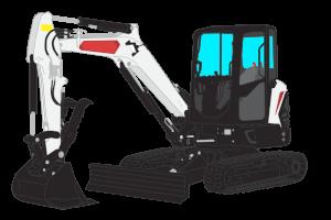 Mini Excavator Clipart