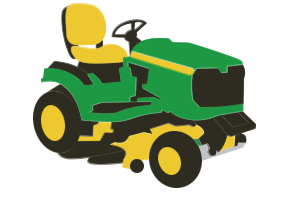 Lawn Tractor Clipart