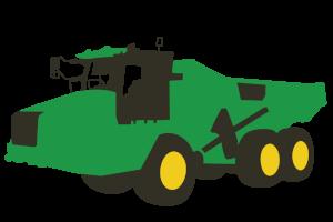 Articulated Dump Truck Clipart