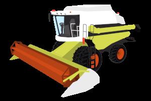 Combine Harvester Clipart