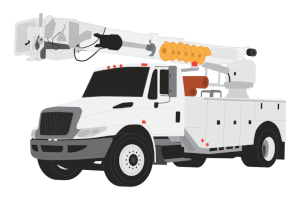 Utility Truck Clipart